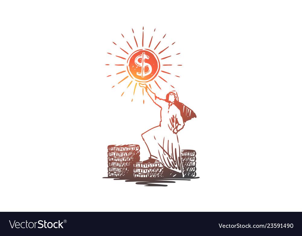 Money dollars wealth success muslim concept
