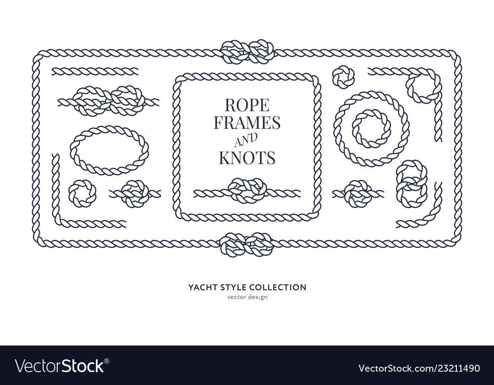 Nautical rope knots and frames