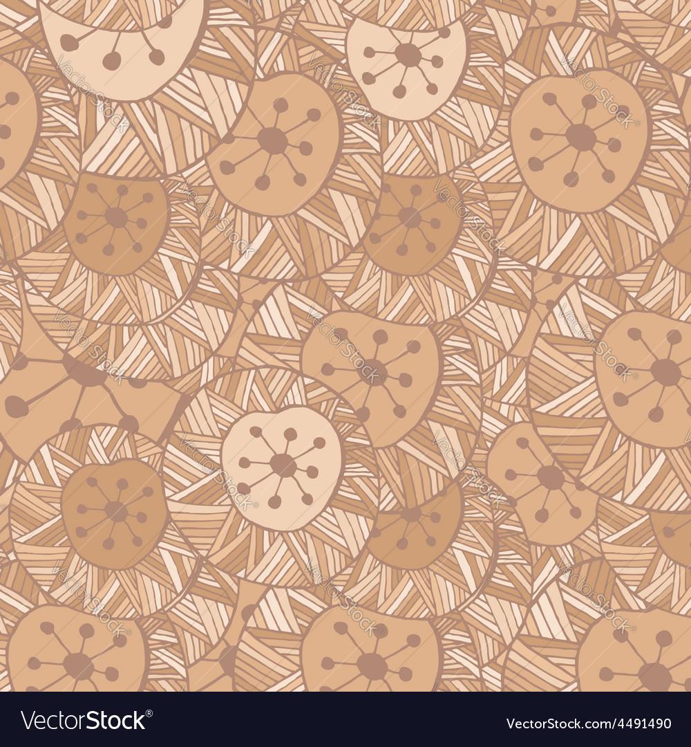 Seamless Hand drawn ornamental pattern with circle