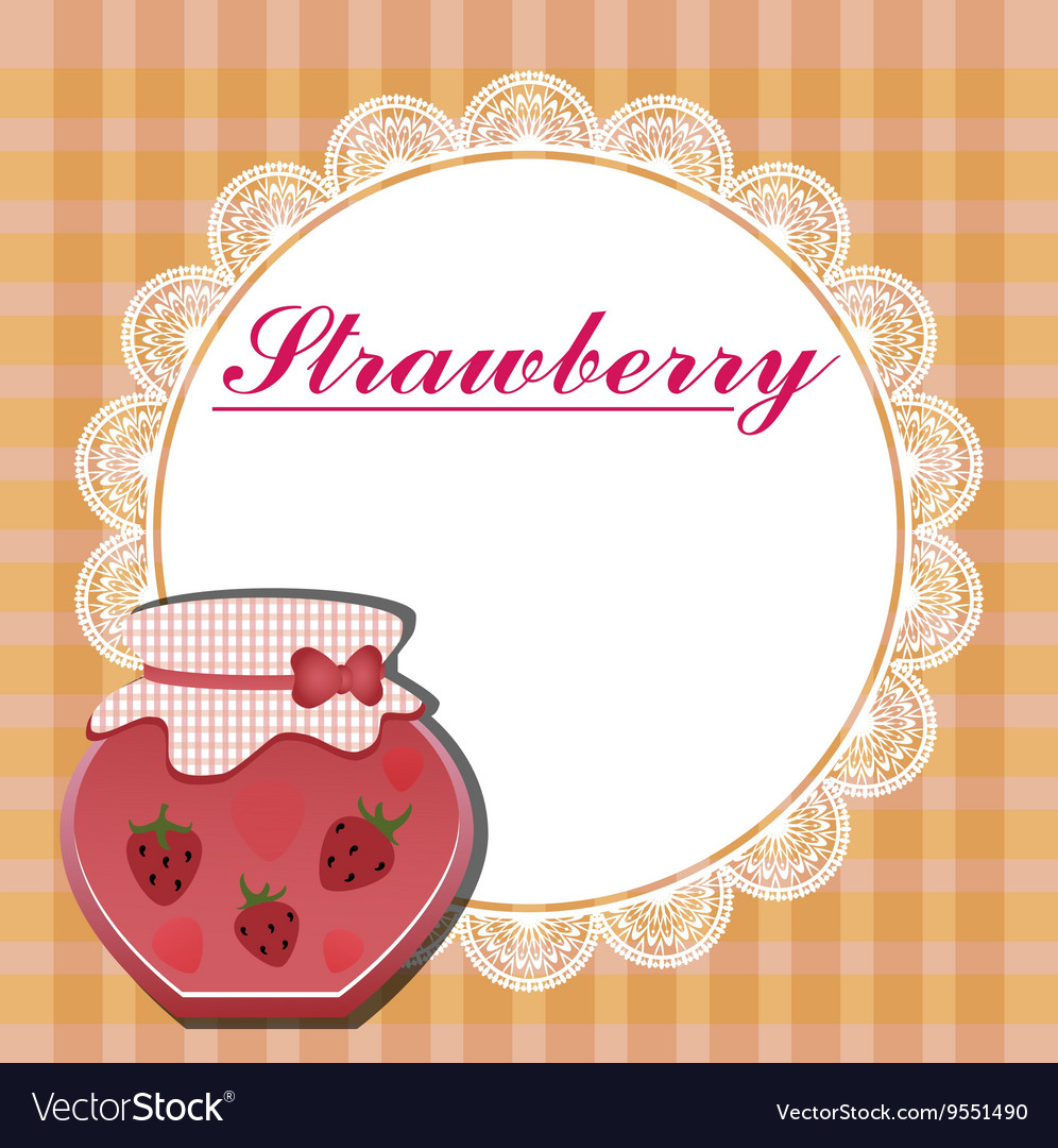 The label for the strawberry jam