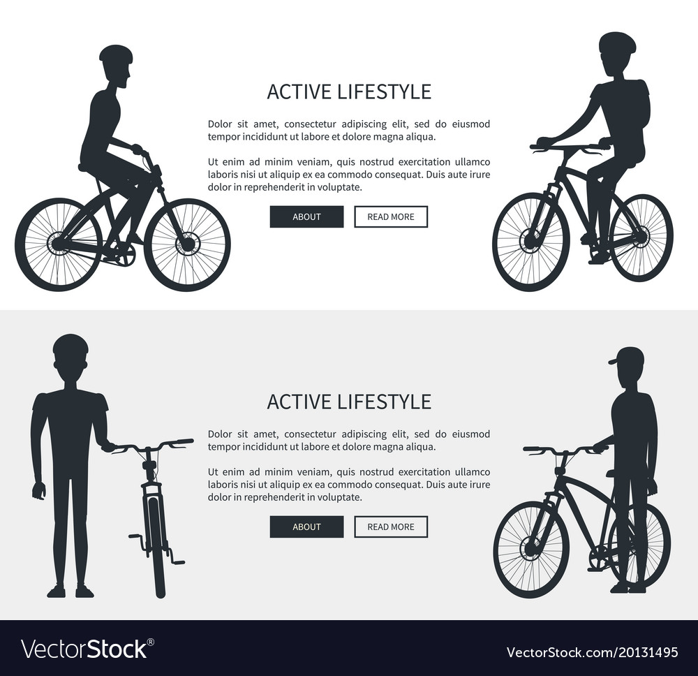 Active lifestyle silhouettes