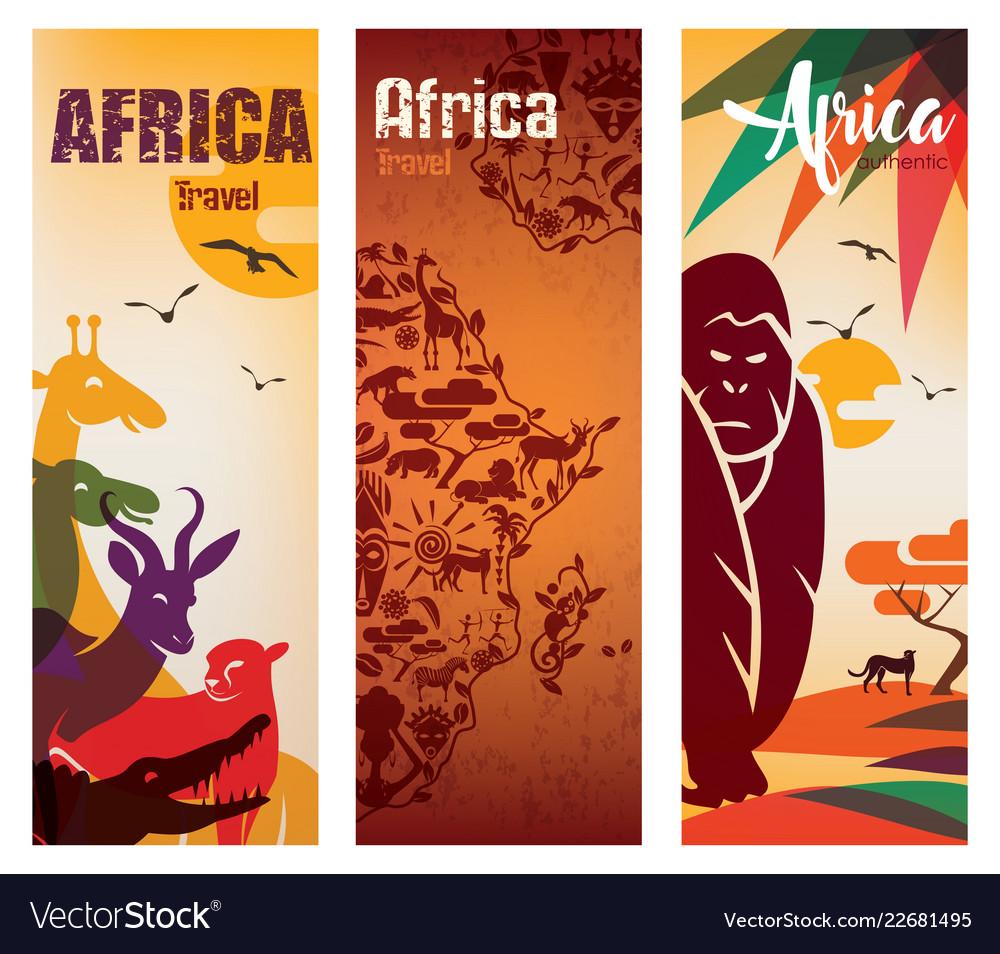 Africa travel background decorative symbol of