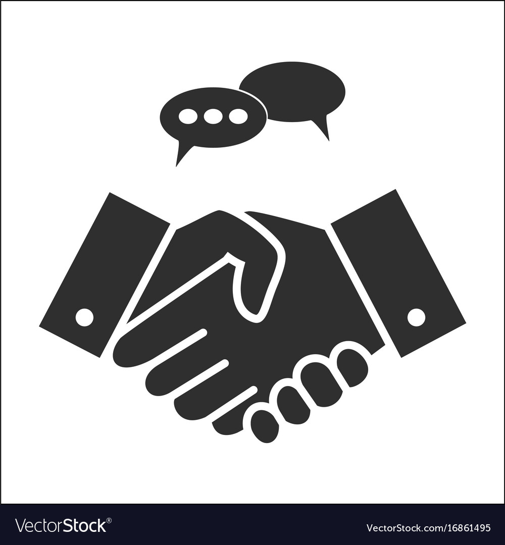 Business people handshake in grey colors