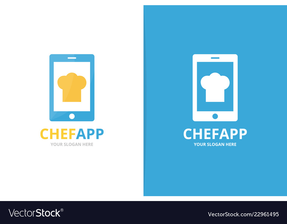 Chef hat and phone logo combination