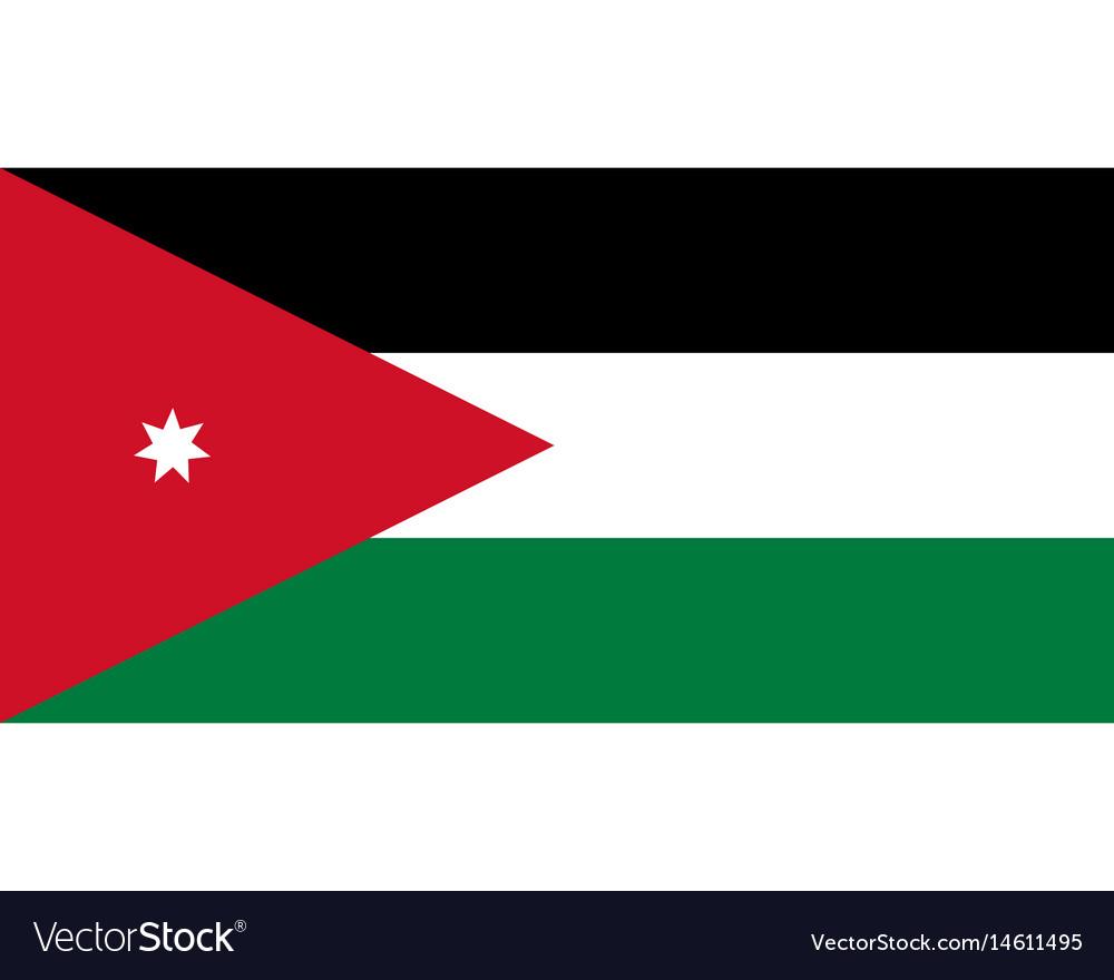 colored flag of jordan royalty free vector image