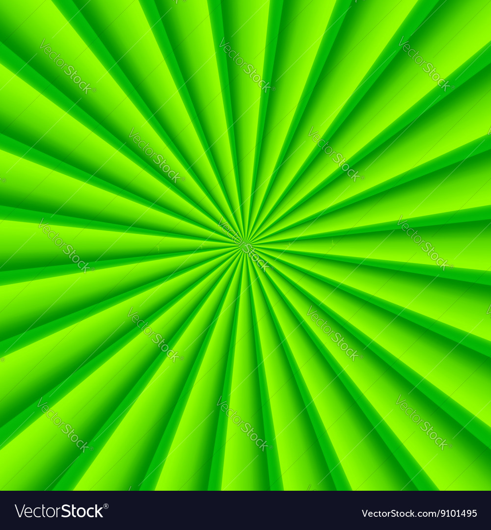 Green abstract rays circle background