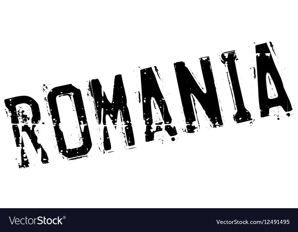 Romania stamp rubber grunge