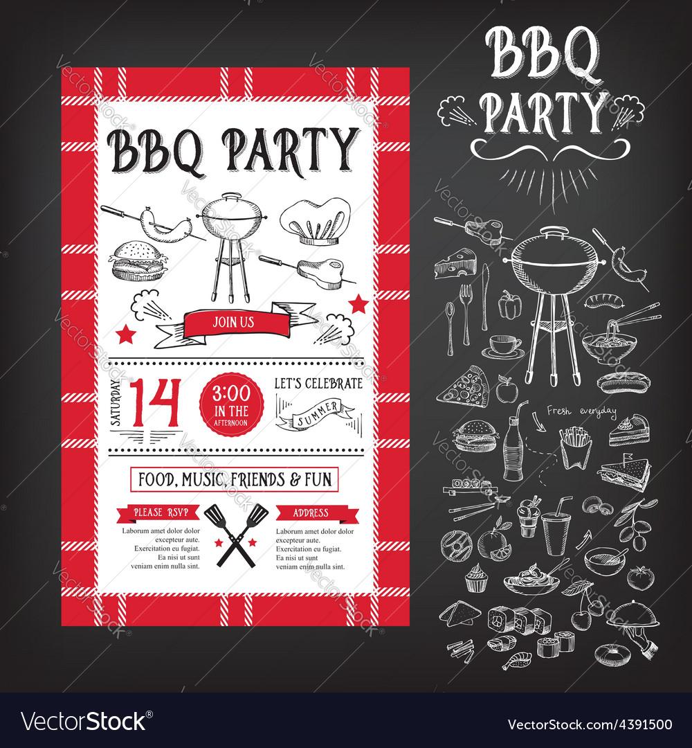 barbecue menu template