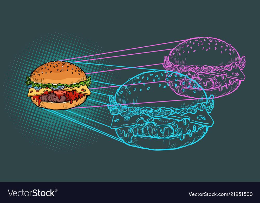 Burger ingredients fast food restaurant