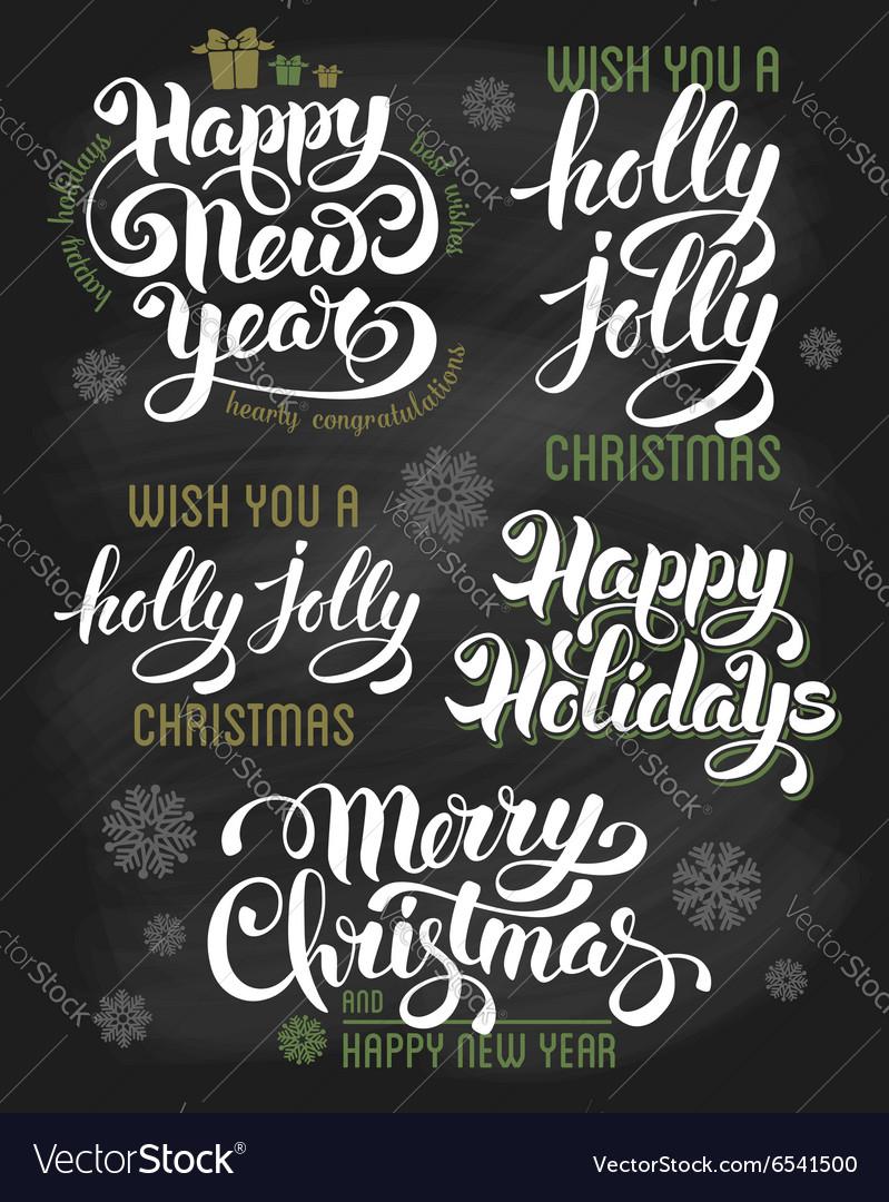 Christmas calligraphy vector image