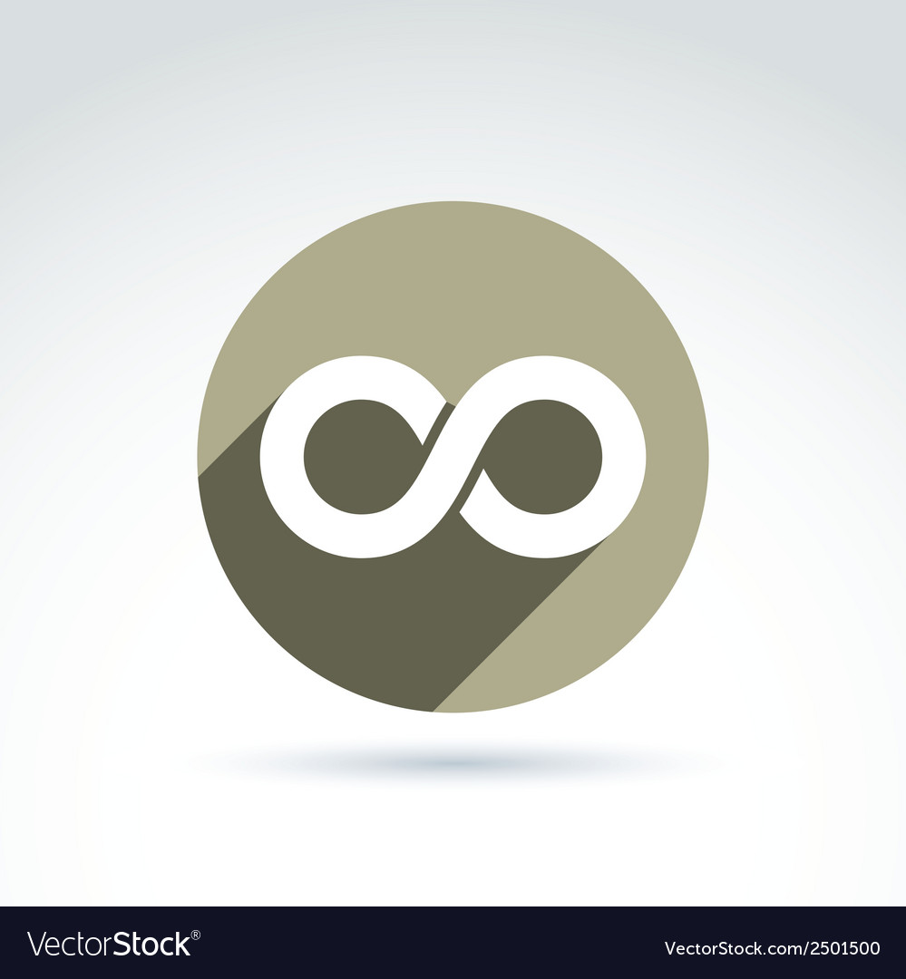 Infinity icon isolated on white background