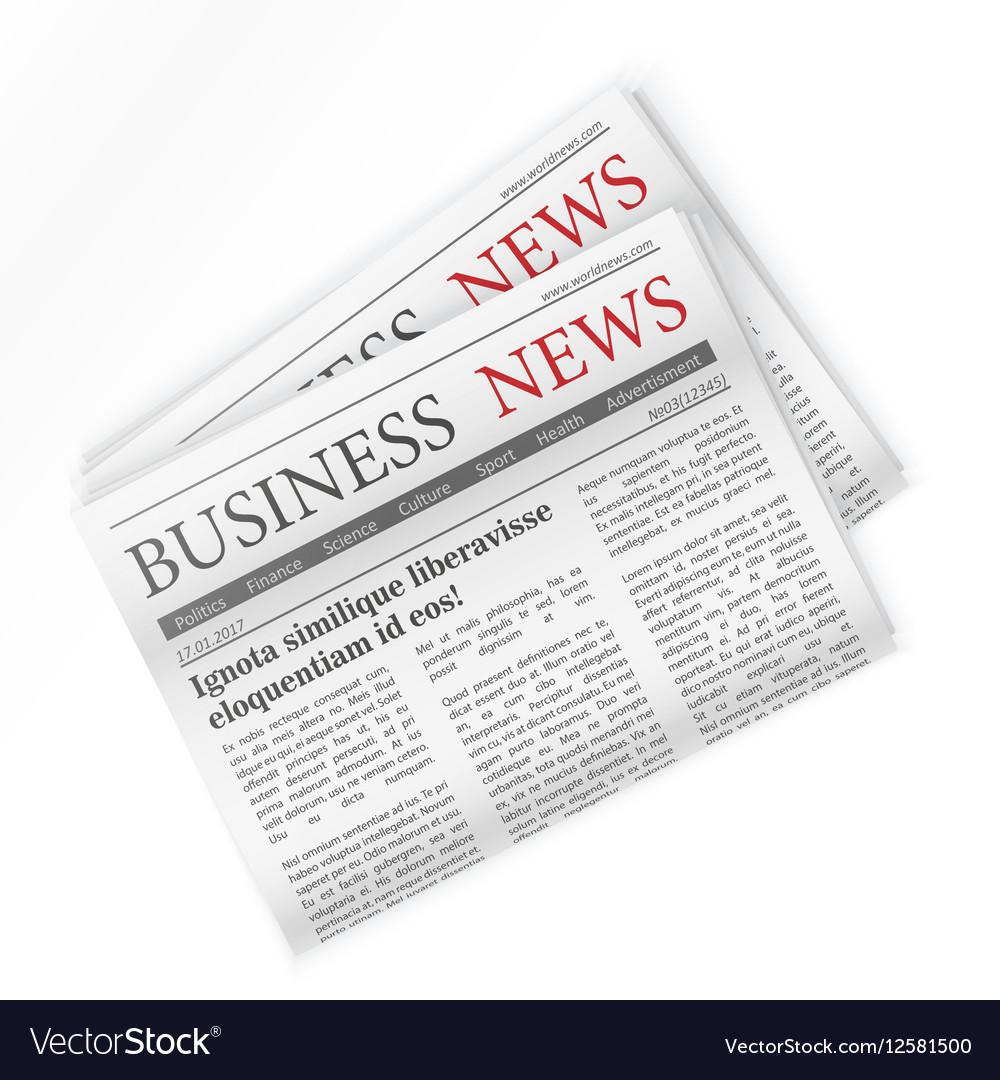 Newspaper Business news Regional newspapers