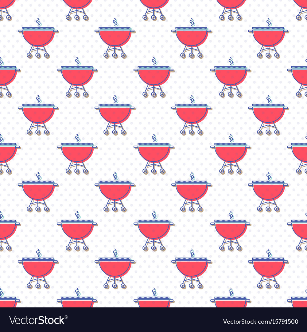 Seamless pattern with brazier or grill