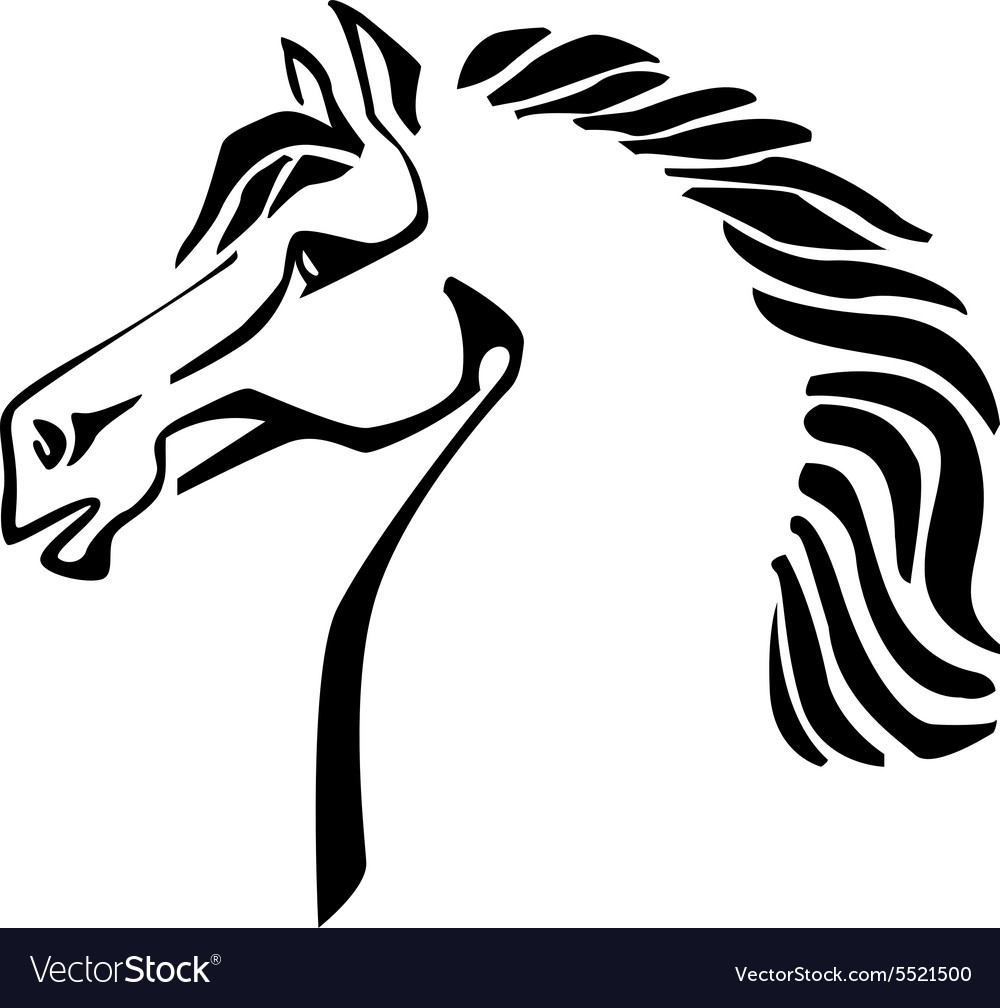 Silhouette of a horse head