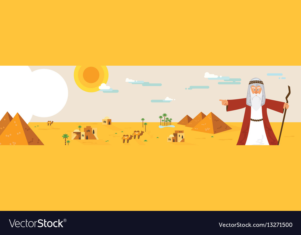 Web banner with moses from passover story and