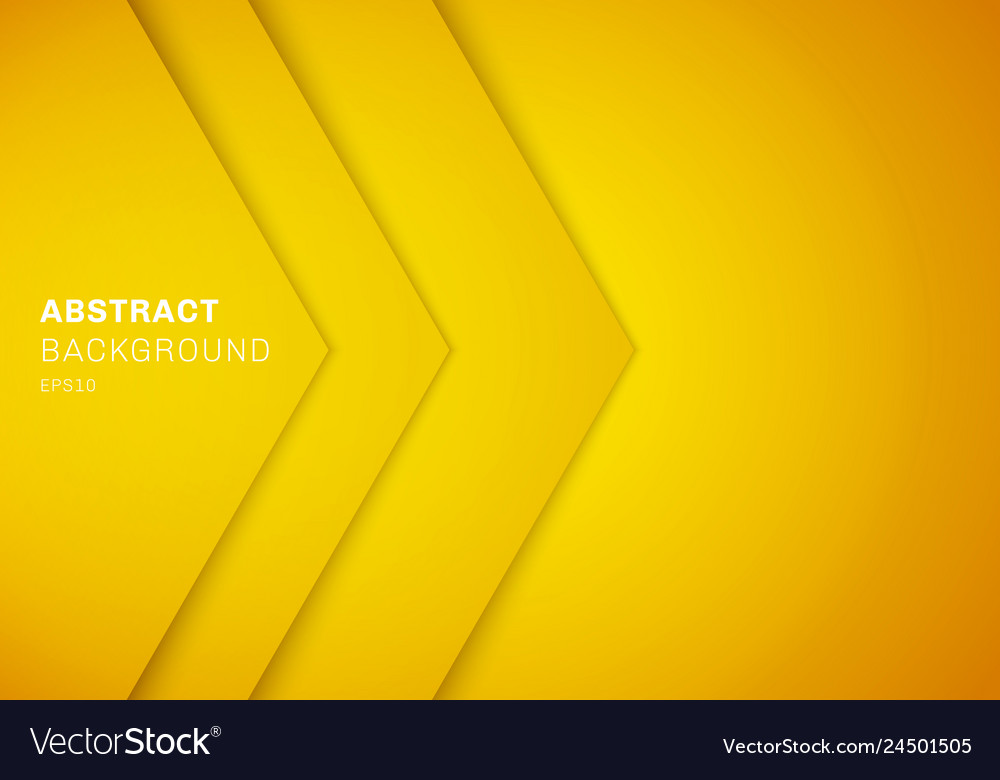 Abstract 3d yellow triangle with overlap paper