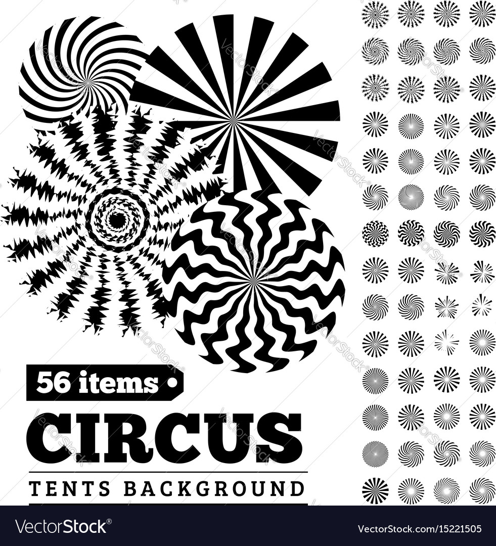 Circus tents backgrounds or circular