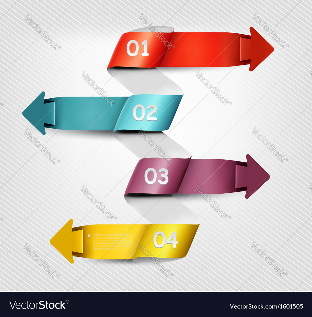 Info graphics banner with numbers Modern design