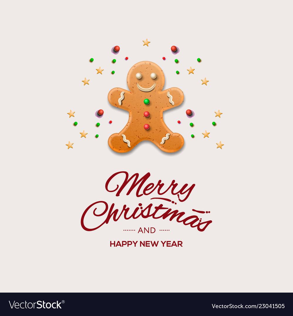 Minimalist style christmas greeting card