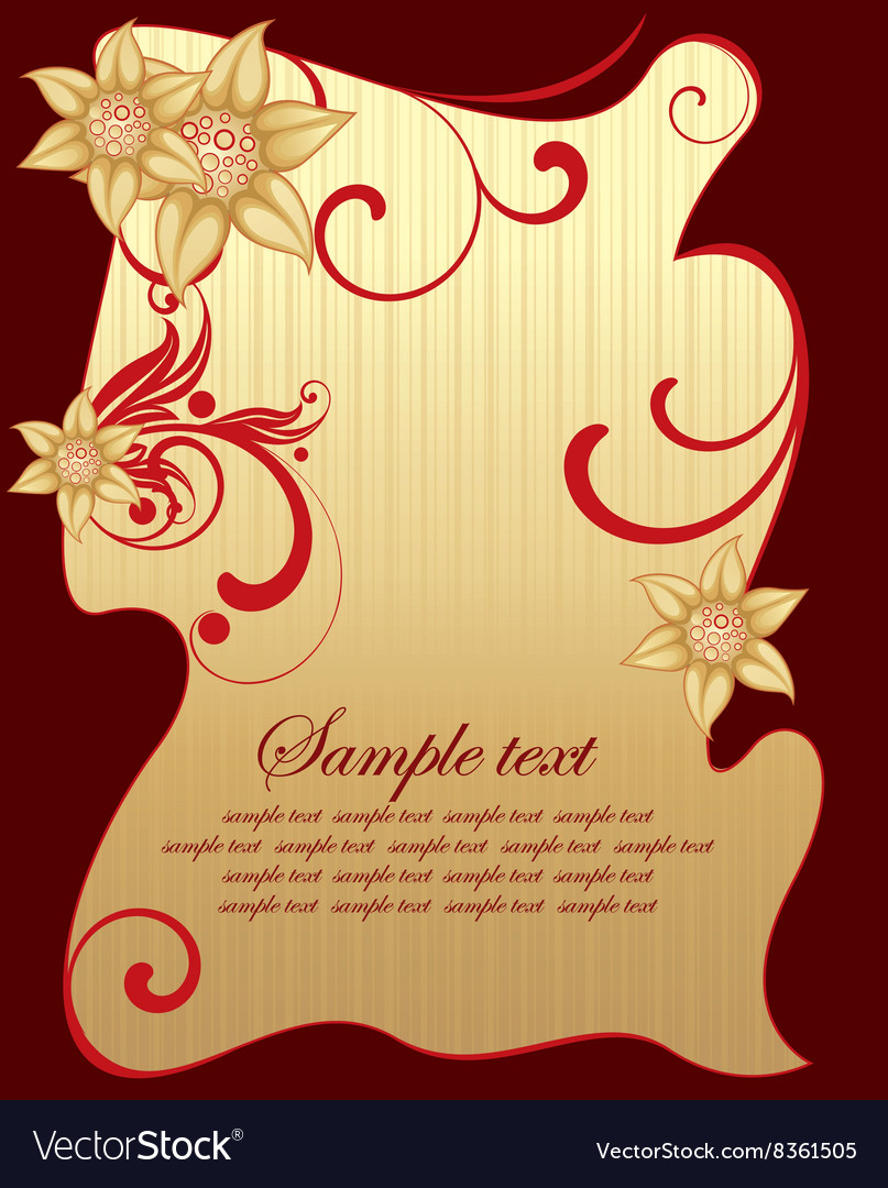 Red and Gold Floral Design