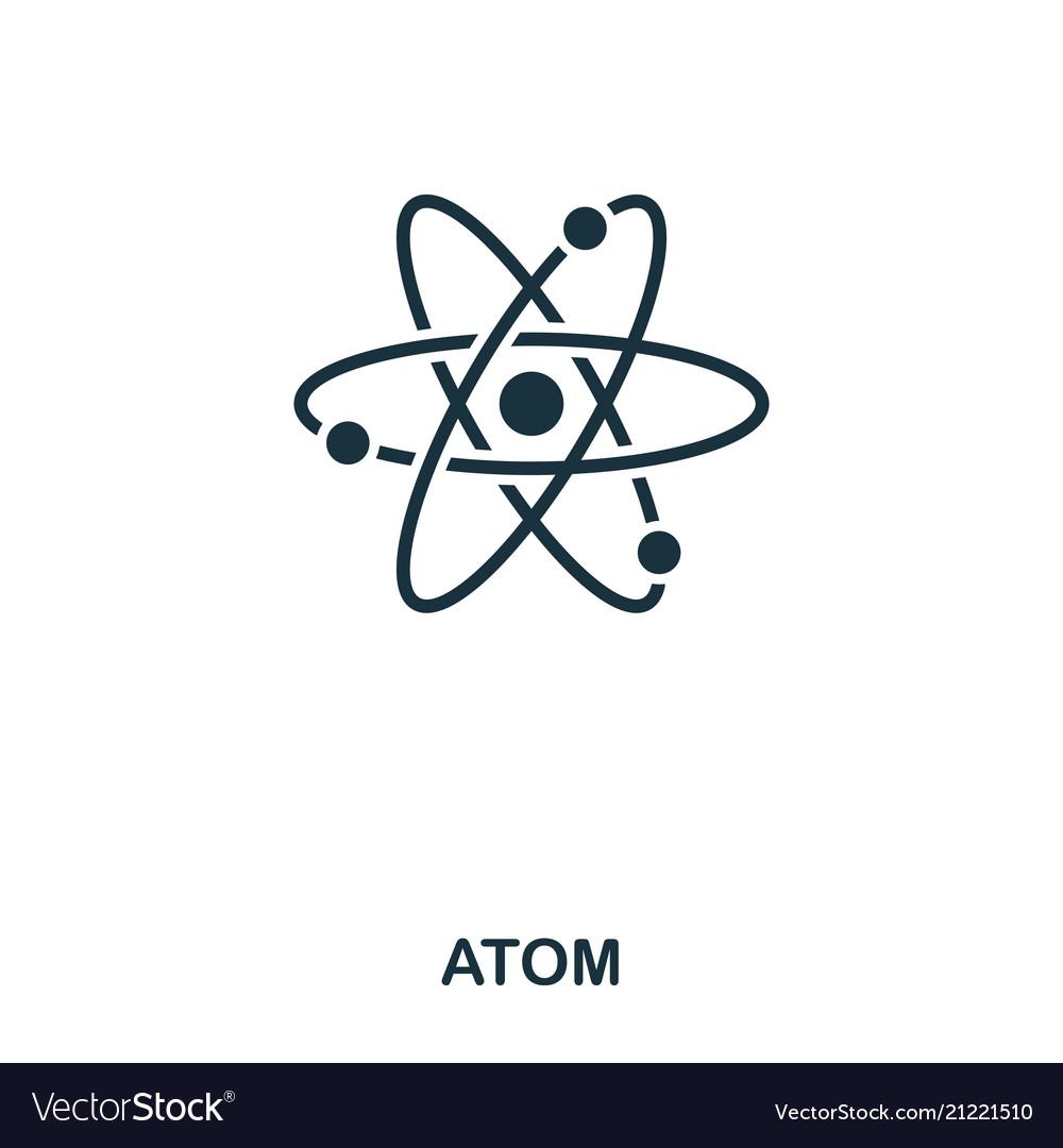 Atom icon line style icon design ui