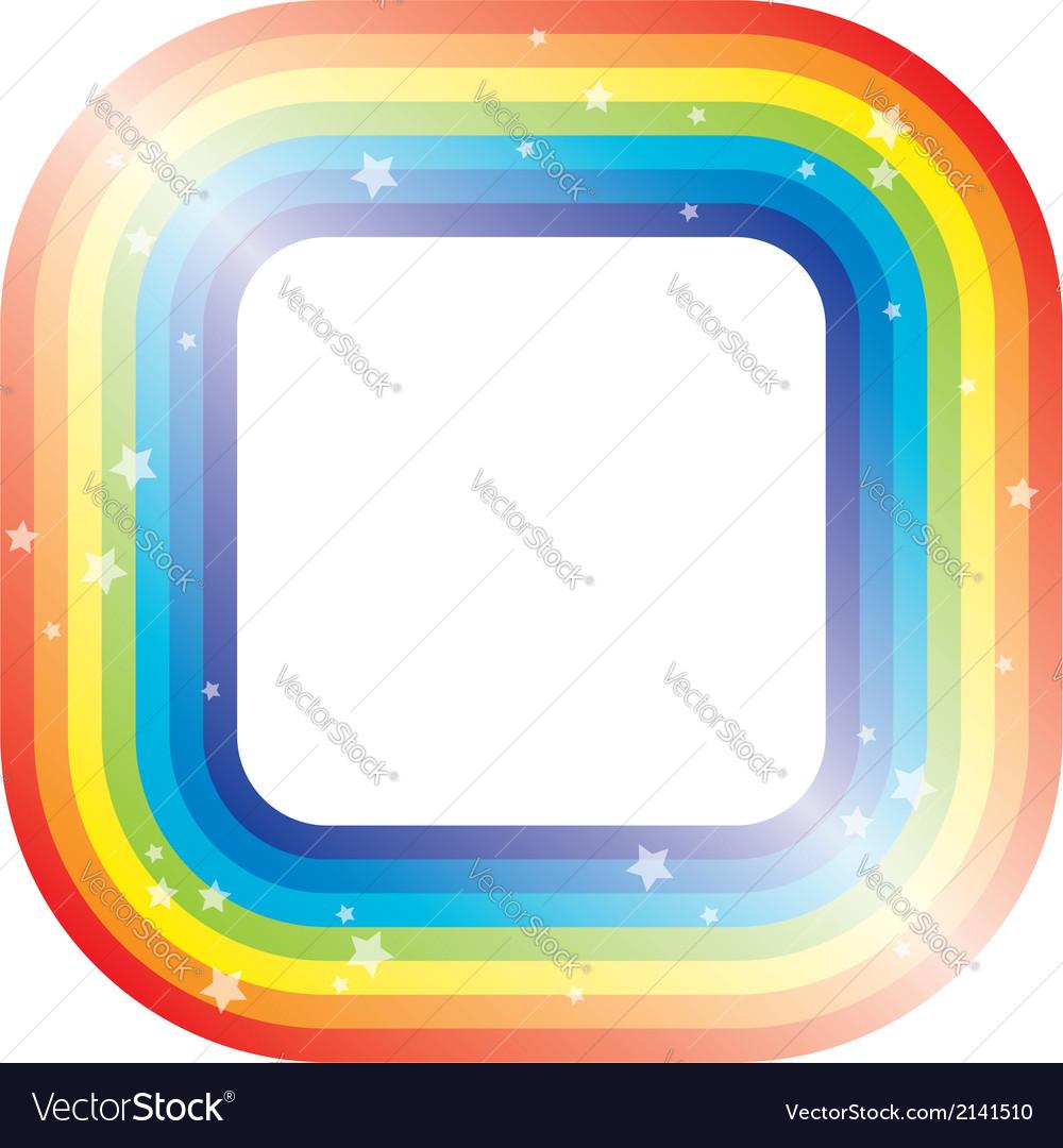 border of rainbow and stars royalty free vector image
