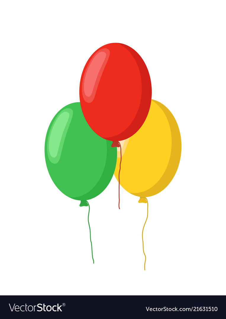 Cartoon Balloons Holiday Flying Objects Royalty Free Vector Want to discover art related to balloons? vectorstock