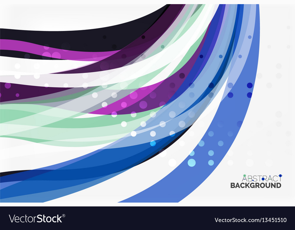 Colorful flowing wave abstract background