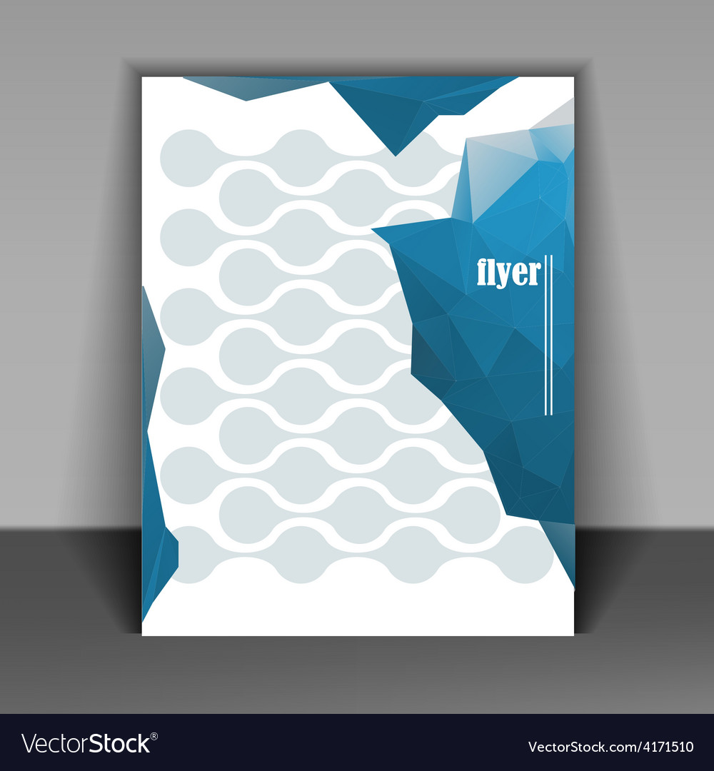flyer layout royalty free vector image vectorstock