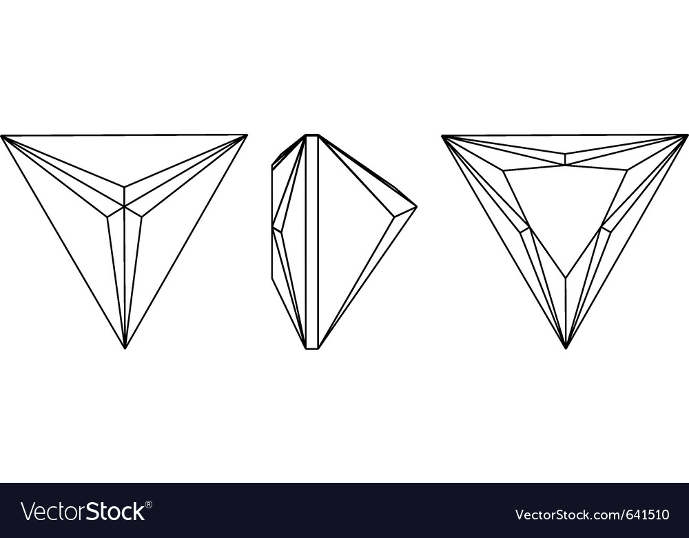 Gemstone wire frame Royalty Free Vector Image - VectorStock