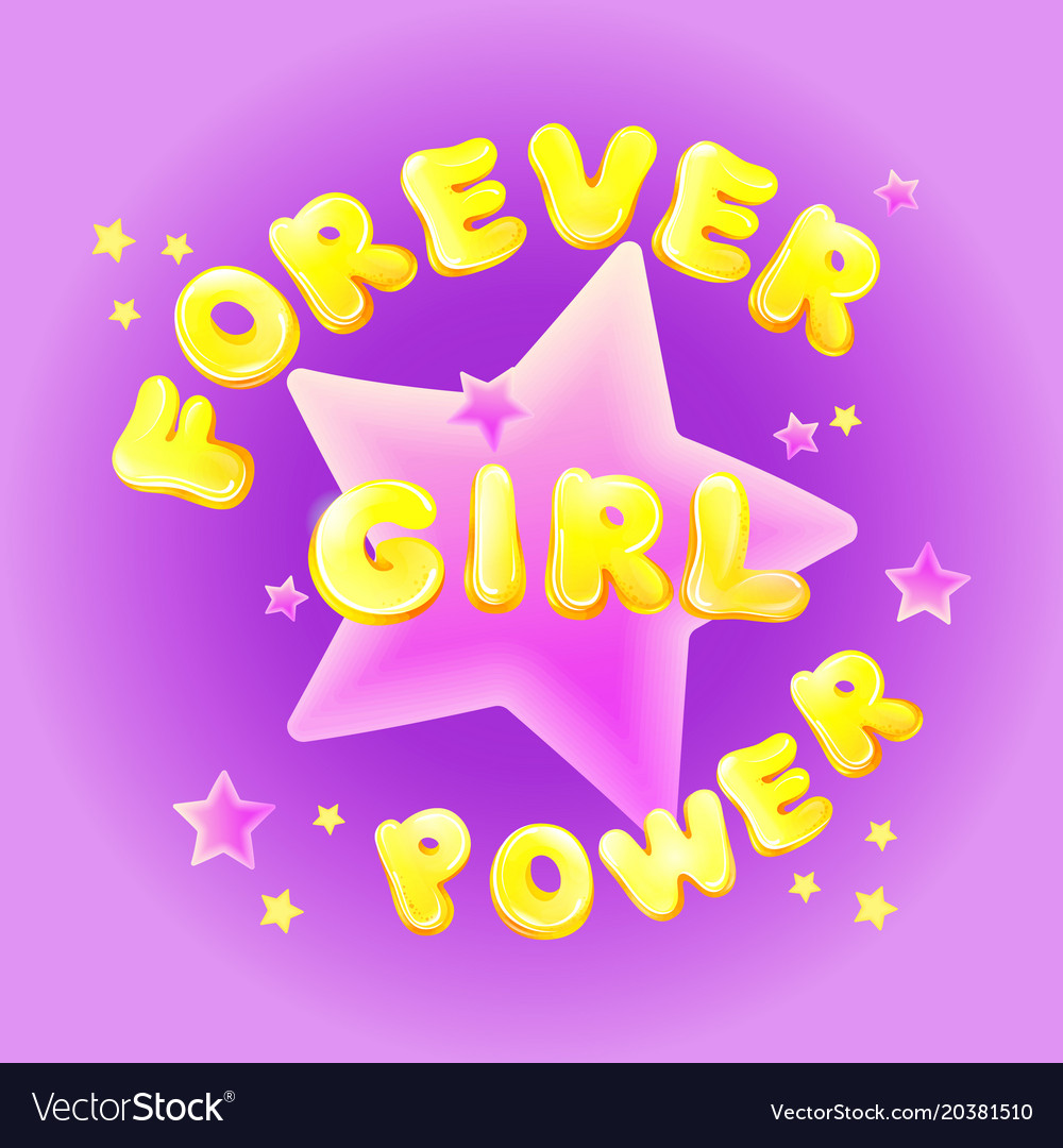 Girl Power Birthday Greeting Card Royalty Free Vector Image