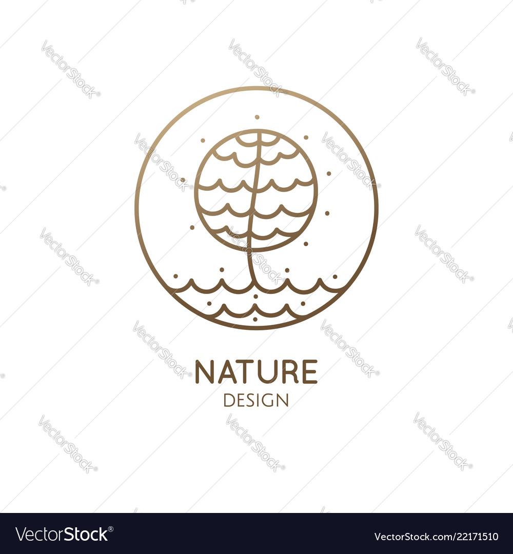 Round emblem of tree