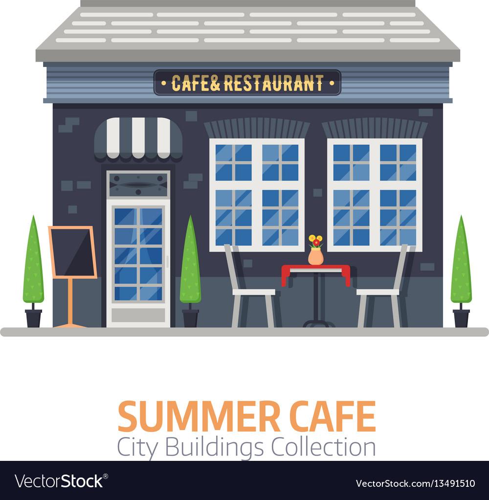 Summer cafe building