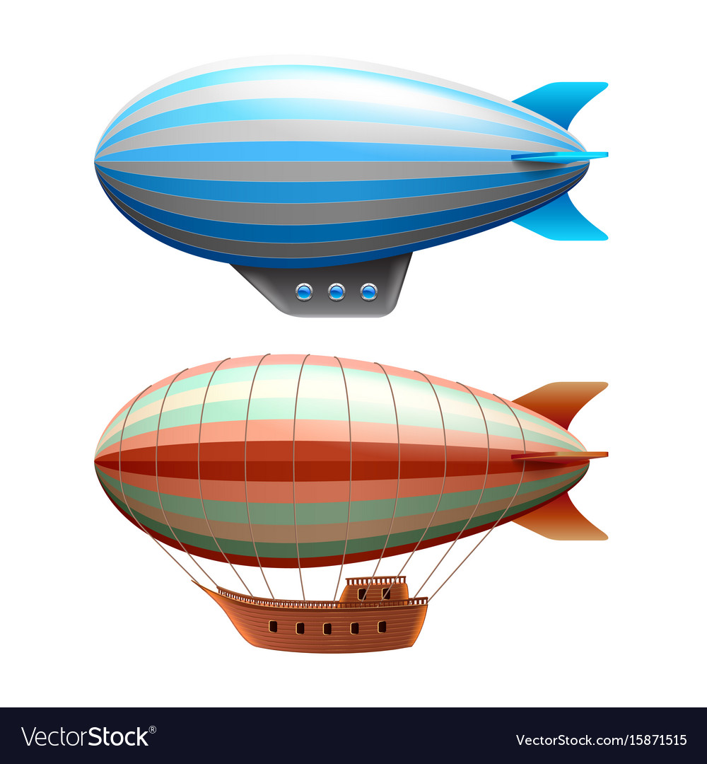 Airship isolated on white