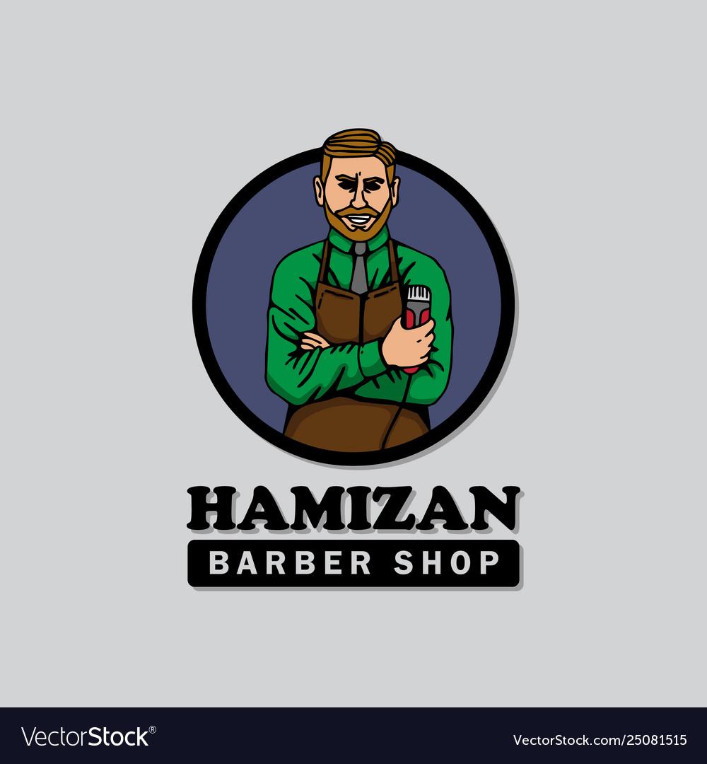 Barbershop logo template good for print design