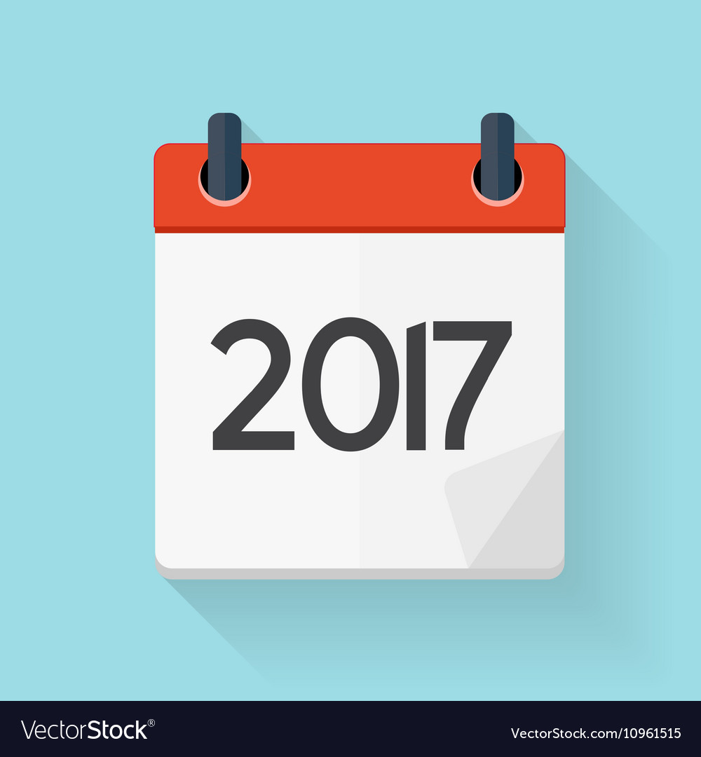 Calendar 2017 Flat Daily Icon