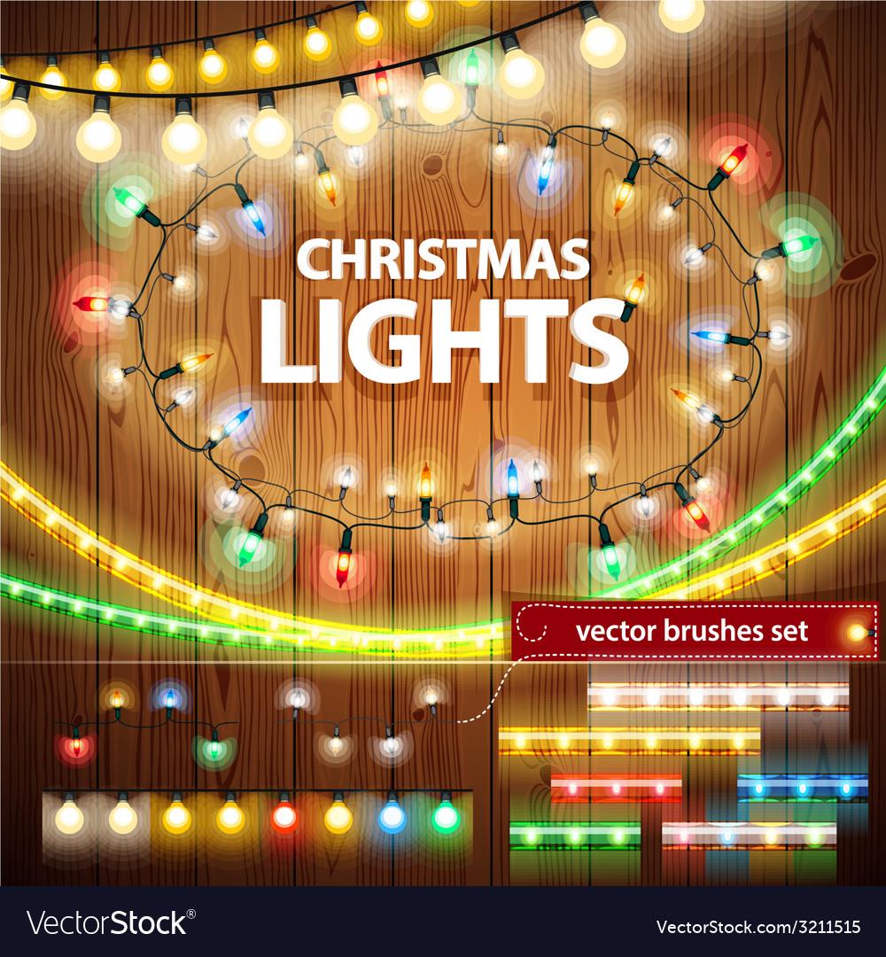 Christmas lights vector image