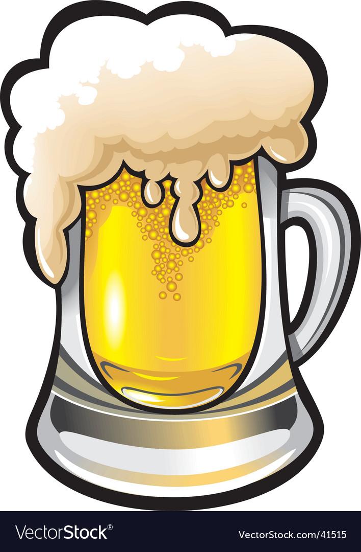 glass of beer royalty free vector image vectorstock rh vectorstock com beer vector mechanics beer vector download