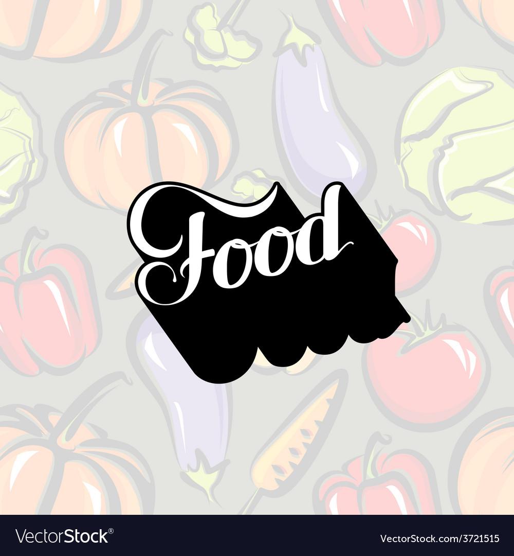 Handwritten Food retro label
