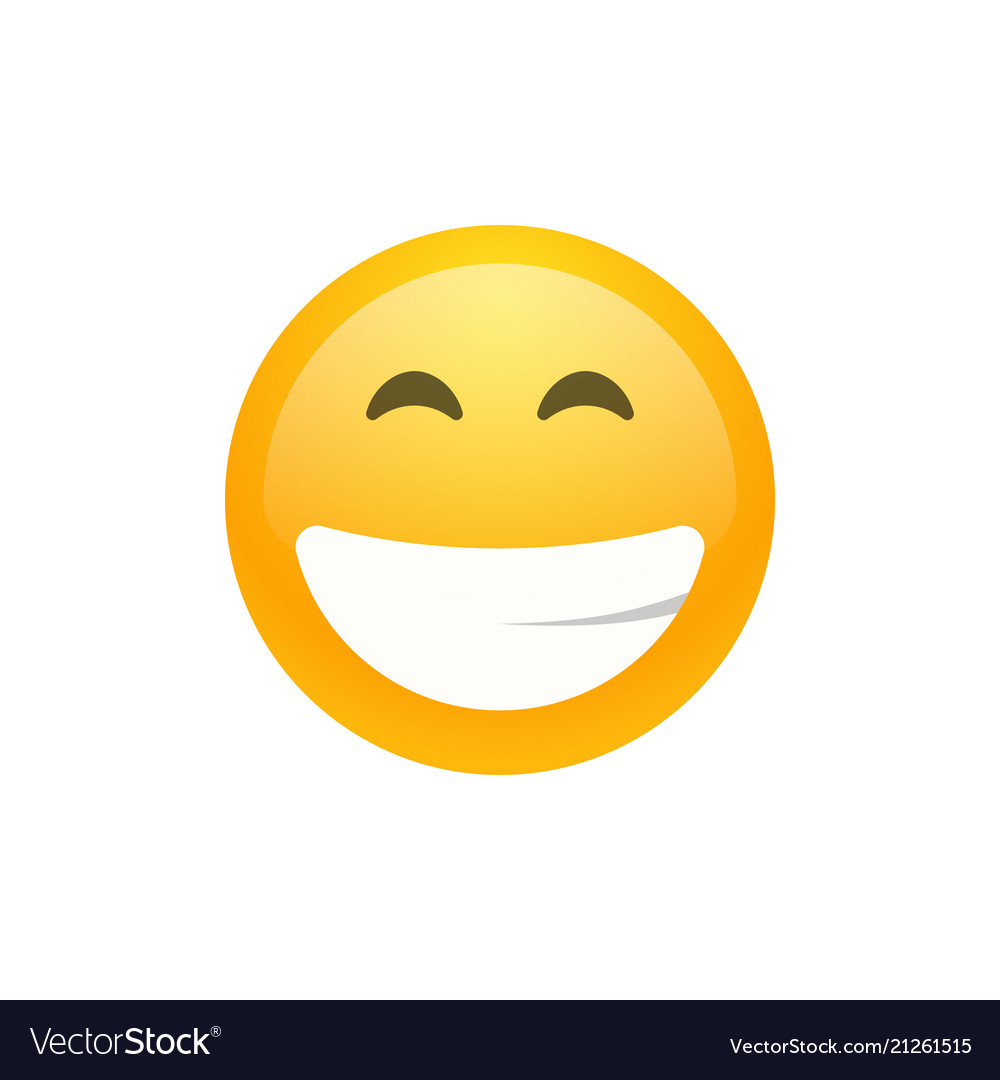 Isolated yellow smiling emoji face icon