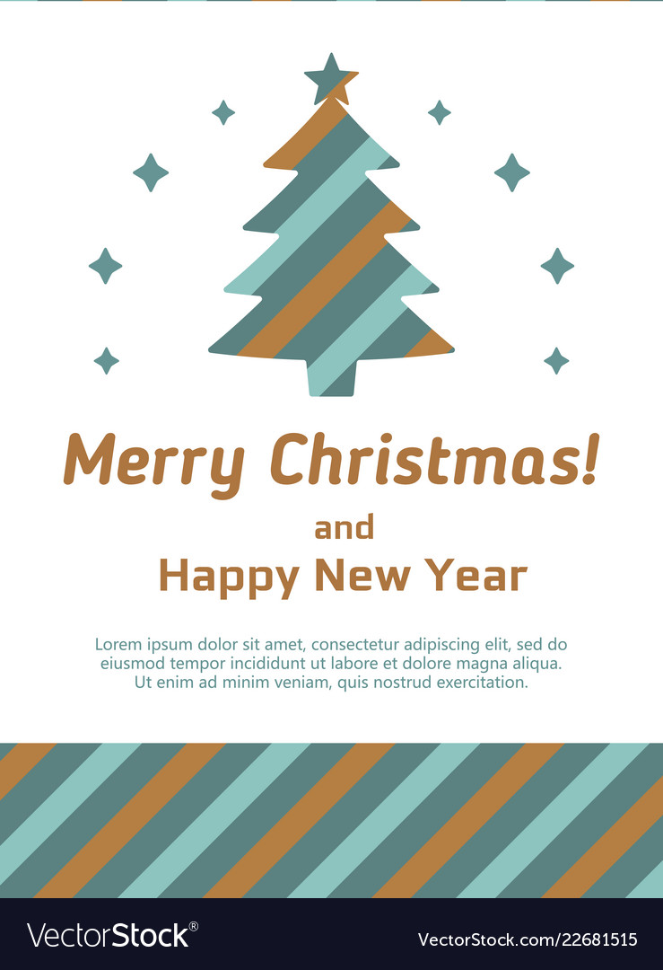 Modern card with abstract christmas tree