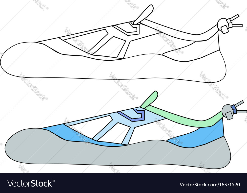 And Simple Sketch Of Model Sneaker Royalty Free Vector Image