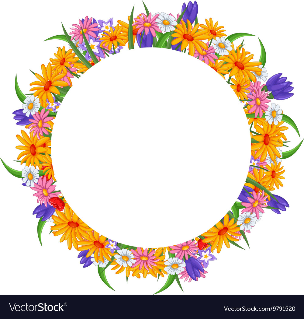 Banner with flowers frame
