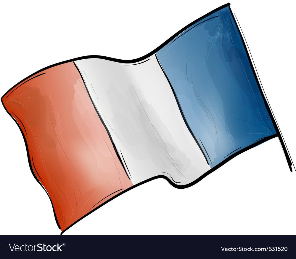 Flag of france on the white