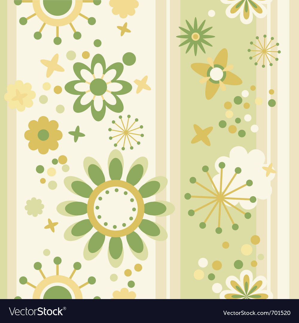 Floral Seamless Wallpaper Royalty Free Vector Image