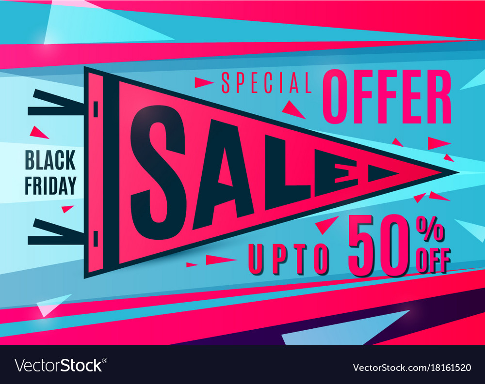Sale Banner Design Sport Pennant Typography Vector Image
