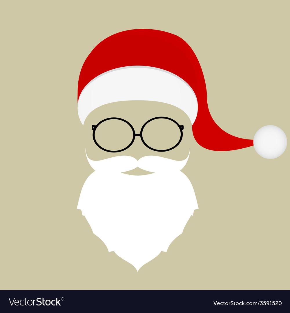 Santa hat mustache beard and glasses Royalty Free Vector 03b09469e