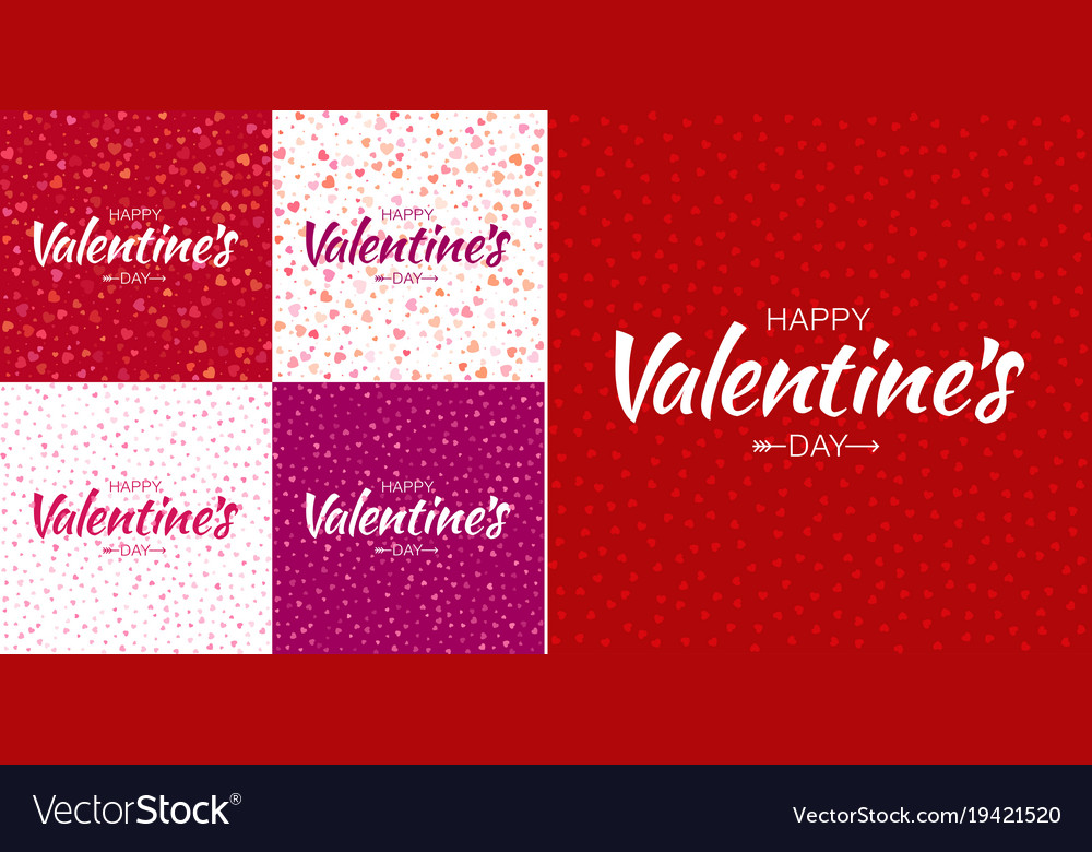 Set of valentines day card backgrounds