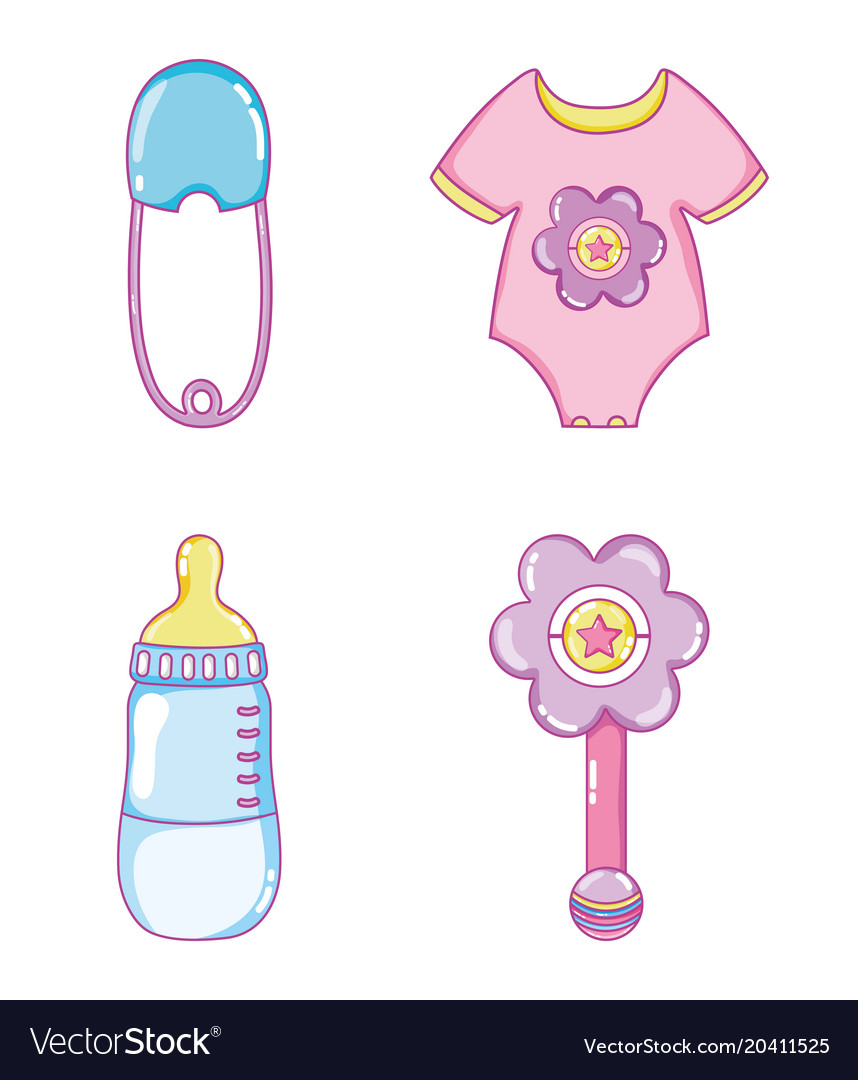 cute baby collection cartoons royalty free vector image