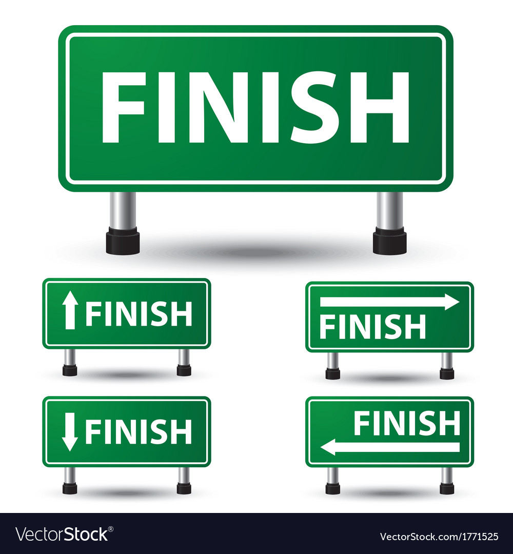 Finish sign